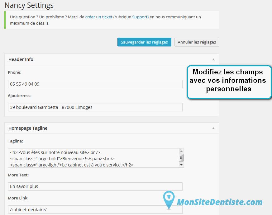 Personnalisez le modèle Citadin (cliquez sur l'image pour l'agrandir).