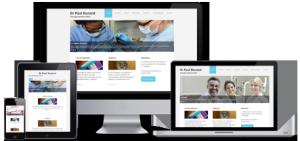 Modèle de site responsive pour dentiste